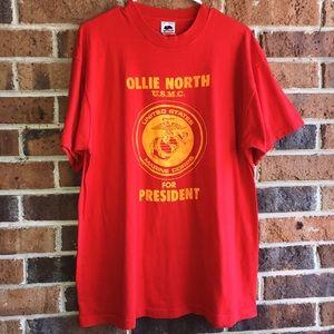 Vintage Ollie North T Shirt XL